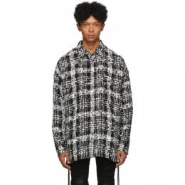 Faith Connexion Black and White Check Tweed Laced Over Shirt 192848M19201203GB