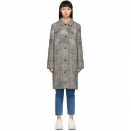 A.P.C. Black Houndstooth Peel Coat 192252F05900702GB