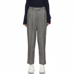 A.P.C. Black and Grey Cheryl Trousers 192252F08701703GB