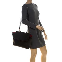 Mansur Gavriel Black Leather Lady Top Handle Bag 227483
