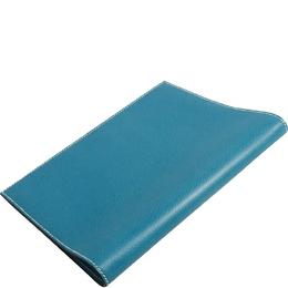 Hermes Blue Leather Agenda Planner Cover 228535