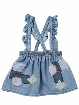 Юбка Из Хлопкового Деним Стретч Stella McCartney Kids 70I6SG017-NDI2Mw2