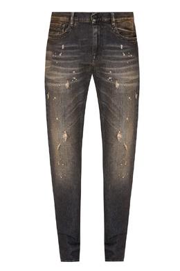 Серые джинсы с рваным эффектом Bikkembergs 1487154923