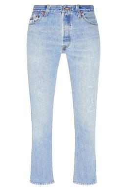 Голубые джинсы из хлопка Re/Done 1781155107