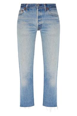 Укороченные джинсы с необработанным краем Re/Done 1781155109