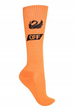 Оранжевые носки с рисунком Off-White 2202155013
