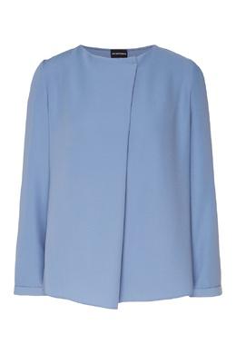 Серо-голубая блузка Emporio Armani 2706127236