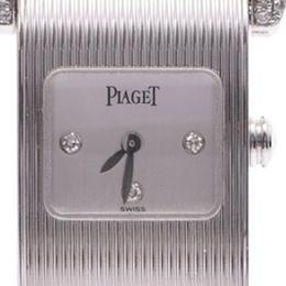 Piaget Gray 18K White Gold And Diamond Miss Protocol 5222 Women's Wristwatch 24 MM 227820