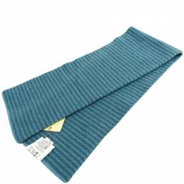 Hermes Blue Cashmere Scarf 228705