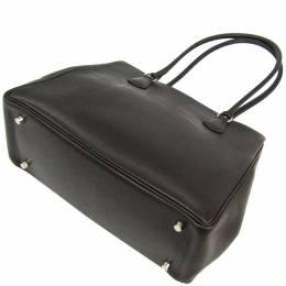 Hermes Black Evercalf Leather La Tote 228550