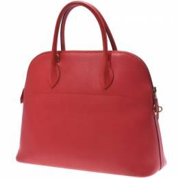 Hermes Rouge Leather Bolide 37 Bag 229996