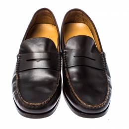 Tod's Dark Brown Leather Penny Loafers Size 44.5 229918