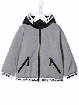 Stella McCartney Kids куртка с капюшоном и логотипом 566533SNK47