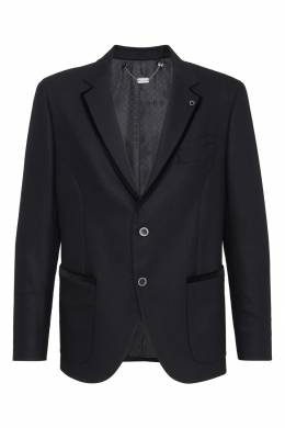 Черный шерстяной пиджак с декором Billionaire 1668155398