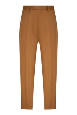 Коричневые брюки из шерсти Sandro 914155300