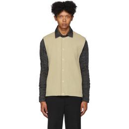 Homme Plisse Issey Miyake Beige Pleated Cotton Surface Vest 192729M18500301GB