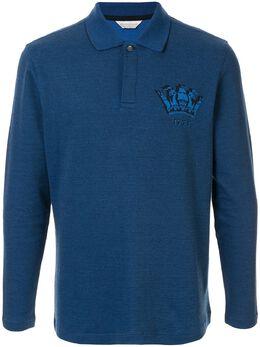 Gieves & Hawkes рубашка-поло с длинными рукавами G40H8E103035