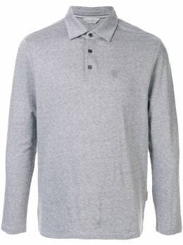 Gieves & Hawkes рубашка-поло с длинными рукавами G40H8E107097