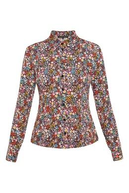 Приталенная рубашка с цветочным принтом Alexander Terekhov 74155634