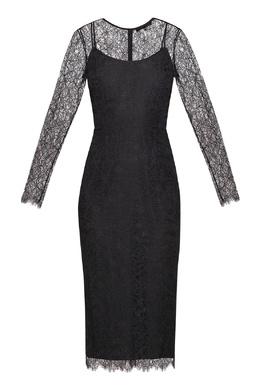 Кружевное платье черного цвета Alexander Terekhov 74155677