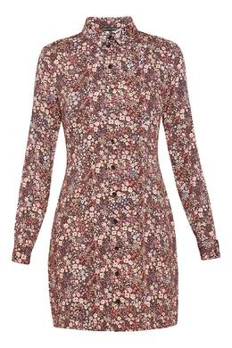 Платье-рубашка с цветочным принтом Alexander Terekhov 74155664