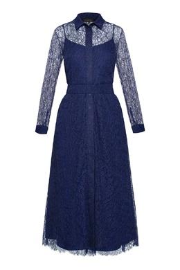 Синее кружевное платье Alexander Terekhov 74155673