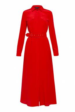 Красное платье с накладными карманами Alexander Terekhov 74155668