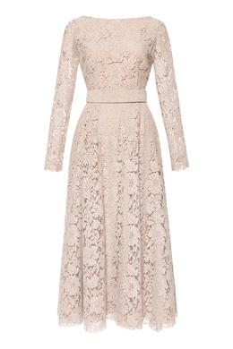 Бежевое платье из кружева Alexander Terekhov 74155679