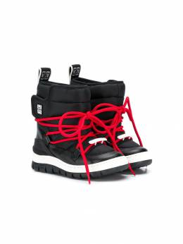 Givenchy Kids lace up moon boots H2902409B