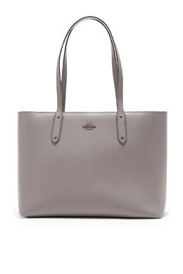 Серая кожаная сумка Charlie Coach 2219156003