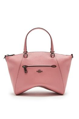 Розовая кожаная сумка Prairie Coach 2219156025