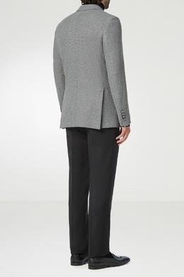 Серый приталенный пиджак с металлическими пуговицами Billionaire 1668156198