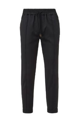 Черные брюки с декором из кожи рептилии Billionaire 1668156196