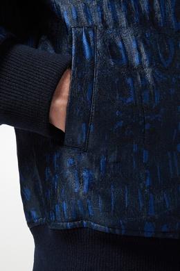 Синяя куртка-бомбер с узором Billionaire 1668156197