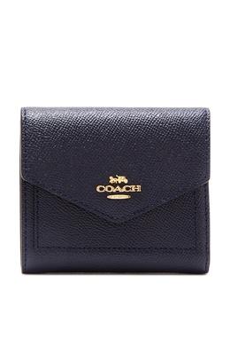 Квадратный кожаный кошелек темно-синего цвета Coach 2219156545
