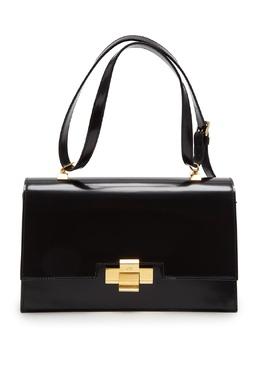 Черная кожаная сумка Alice No. 21 35156205