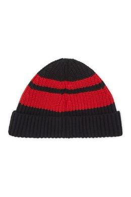 Черно-красная вязаная шапка Billionaire 1668156238