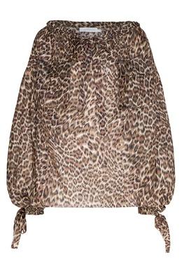 Блуза с леопардовым принтом Zimmermann 1411156357