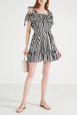 Платье в полоску с открытыми плечами Zimmermann 1411156351