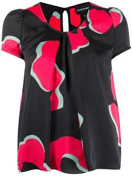 Emporio Armani блузка с короткими рукавами и абстрактным принтом 6G2K652NURZ