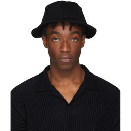 Homme Plisse Issey Miyake Black Pleats Bucket Hat 192729M14000101GB