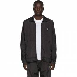 Stone Island Black Nylon Metal Over Shirt Jacket 192828M18004305GB