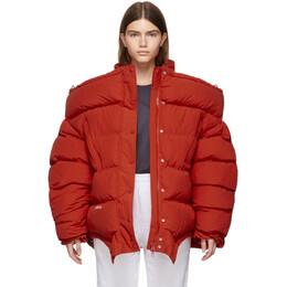 Vetements Red Upside Down Puffer Jacket 192669F06100303GB