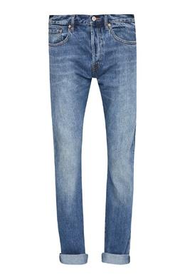 Голубые джинсы с потертостями Paul Smith 1924156771