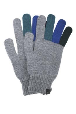 Серые перчатки с контрастными вставками Paul Smith 1924156865