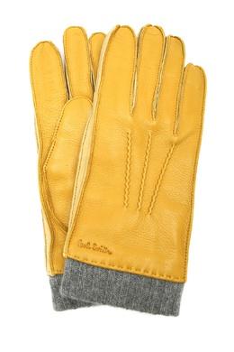 Желтые перчатки из кожи Paul Smith 1924156844