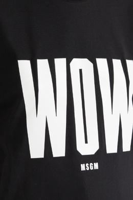 Черная футболка с принтом Wow MSGM 296156295