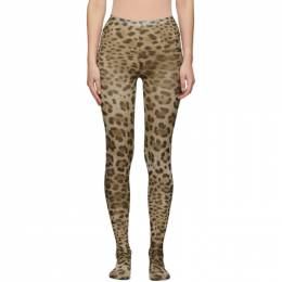 Dolce&Gabbana Beige and Brown Leopard Tights 192003F07600101GB