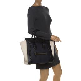Celine Tri Color Leather Mini Luggage Tote 228189