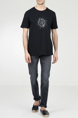 Черная футболка с рисунком Saint Laurent 1531157044